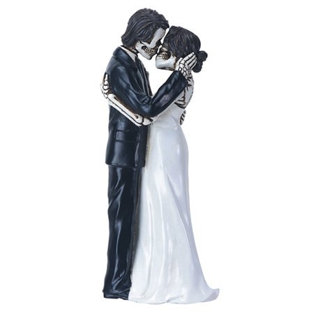 The Kiss Skeleton Wedding Couple Day of the Dead Dia de los Muertos Figurine - Dia De Los Muertos Cat