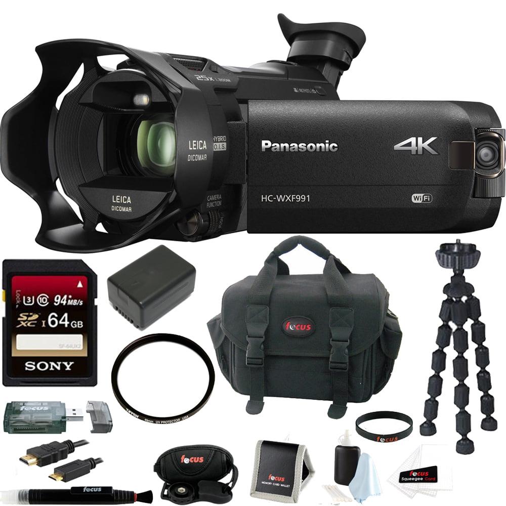 Panasonic HC-WXF991K 4K Ultra HD Camcorder w/ Twin Camera...