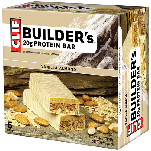 CLIF Builder's Vanilla Almond Protein Bars, 2.40 oz, 6 count