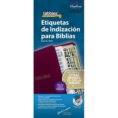 Large Print Spanish Bible Indexing Tabs : Bible Indexing Tabs