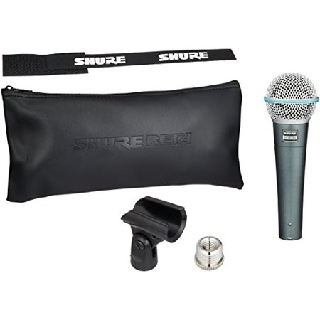 Shure BETA 58A Supercardioid Dynamic Microphone with High Output Neodymium Element for Vocal/Instrument (Akg Supercardioid Dynamic Mic)