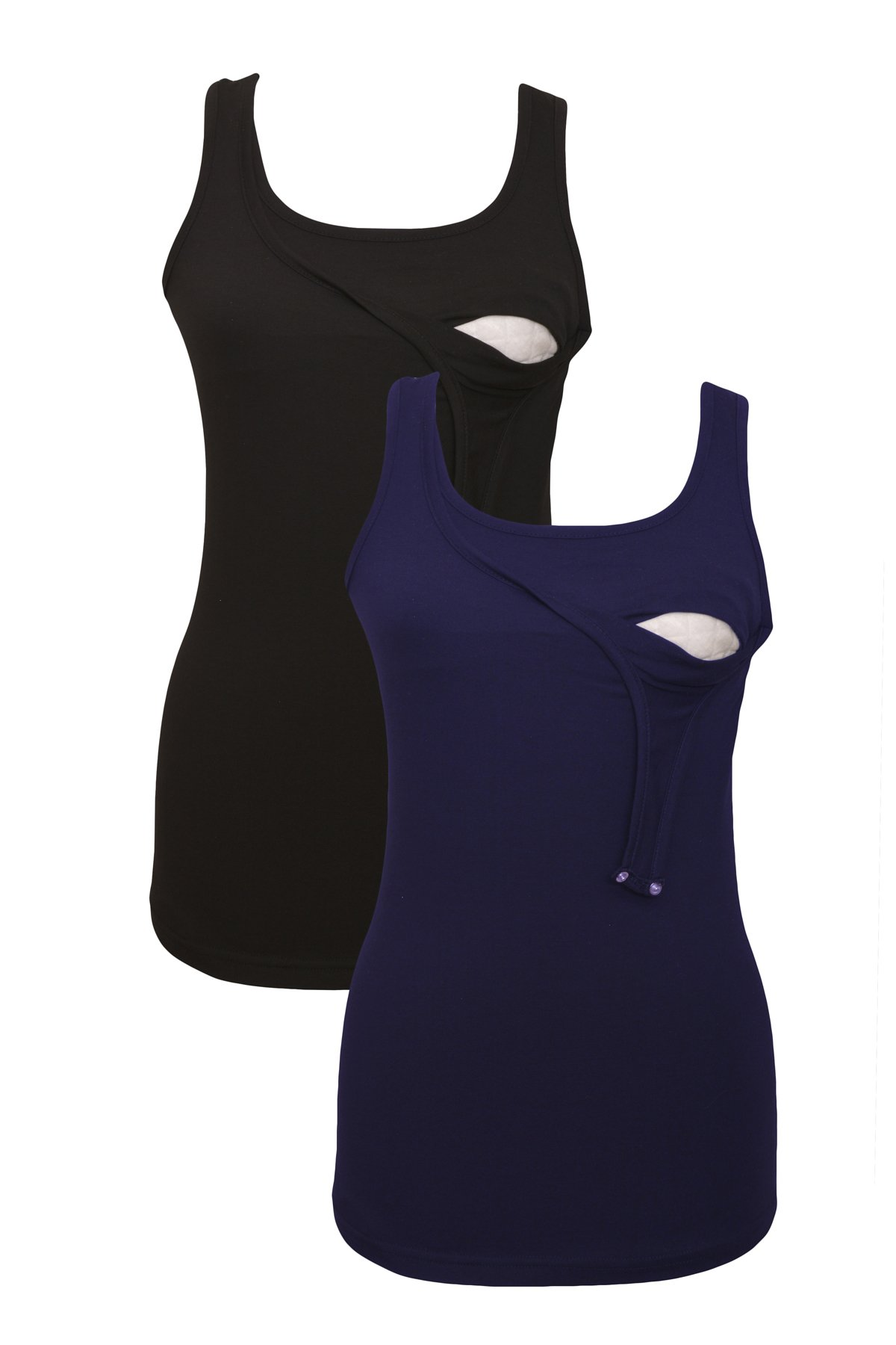 100% premium Cotton - Women Nursing Maternity Tank Top 2 piece Set