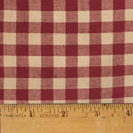 Rustic Red 5 Mini Buffalo Homespun Cotton Fabric - Sold by the Yard - JCS Fabric ()