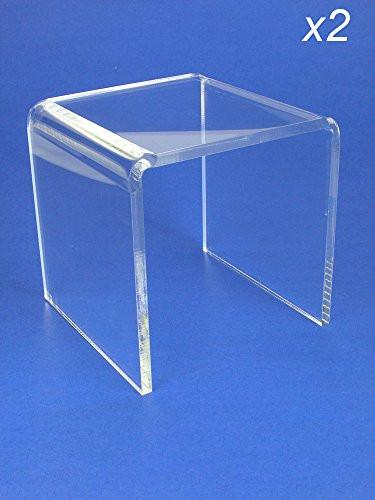 Acrylic Display Stand Risers Premium 5 Inch High Set of 2 by