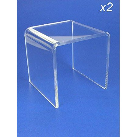 Acrylic Display Stand Risers Premium 5 Inch High Set of 2