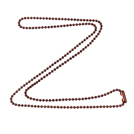 1.8mm Fine Antique Copper Ball Chain Necklace with Extra Durable Color Protective Finish - 18 Inches