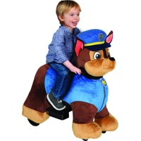 6 Volt Plush Paw Patrol Ride On with Pup House - Chase/Marshall/Skye