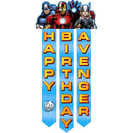 Avengers 'Assemble' Happy Birthday Banner (1ct) - Happy Birthday Avengers