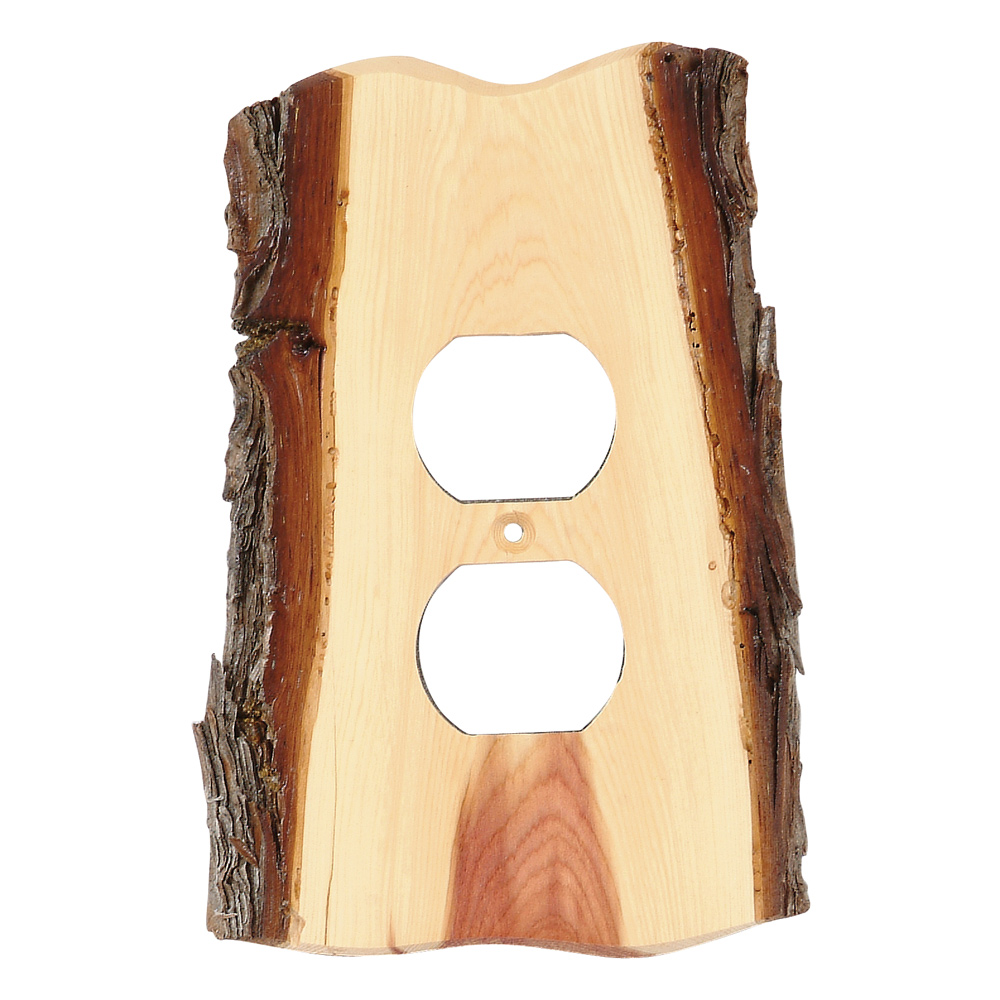 rustic light plate covers