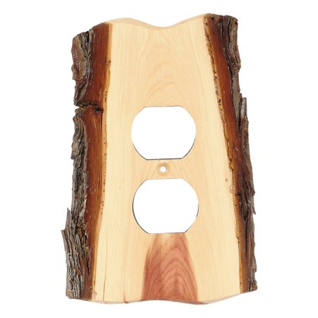 Rustic Juniper Wood Lodge Outlet Cover - Cabin  Decor