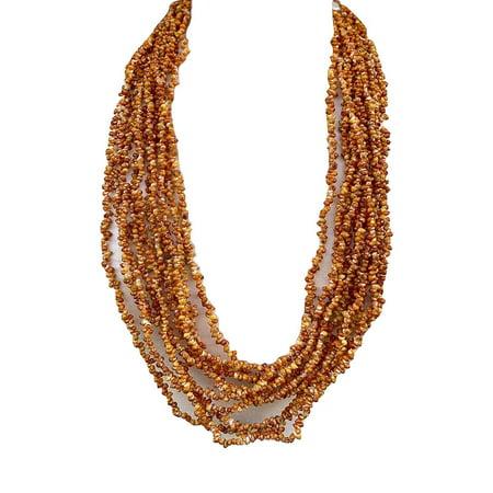 da Hawaiian Store Mongo Sea Shell Lei Necklace Orange Shell Necklace