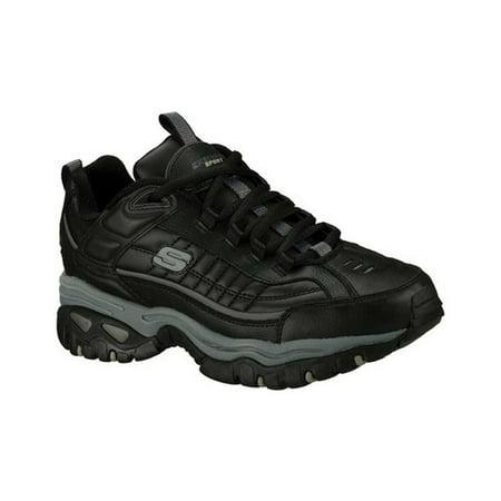 skechers sport men's energy afterburn lace-up sneaker,black/gray,11.5 m us