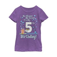 SpongeBob SquarePants Girls' Gary 5th Birthday T-Shirt
