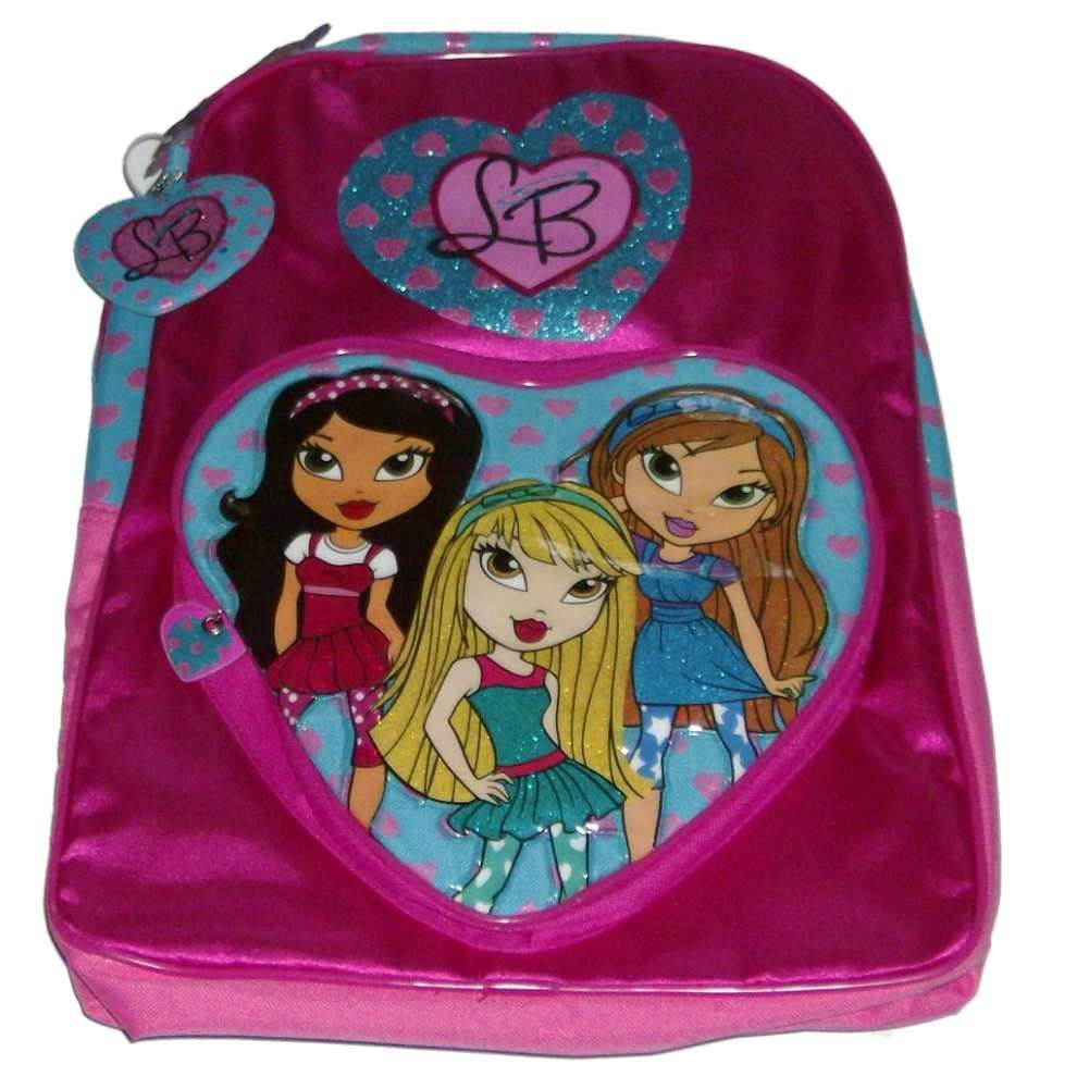 Pretty Pink Lil Bratz Backpack Glitter Travel School Back Pack