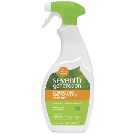 Seventh Generation Lemongrass Citrus Disinfecting Multi-Surface Cleaner, 26 -