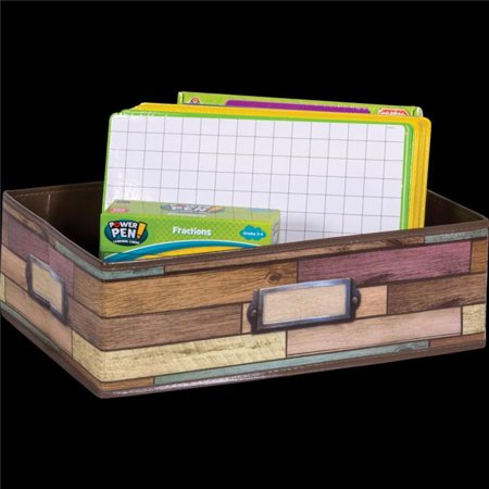 Teacher Created Resources TCR20914 Reclaimed Wood Storage Bin (Teachers Store)