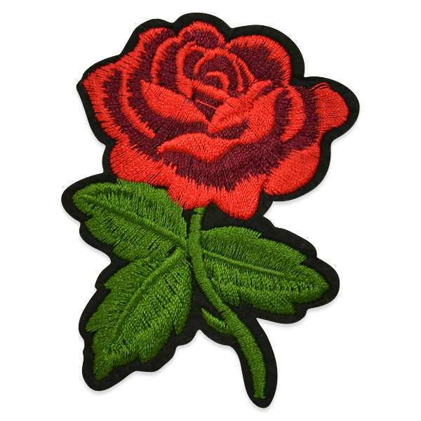 Expo Int'l Marita Iron-on Embroidered Rose Applique