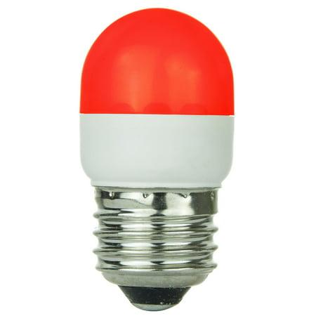 Red Led Light Bulb - SUNLITE Red LED 0.5w Tubular T10 Medium Screw In Base Light Bulb