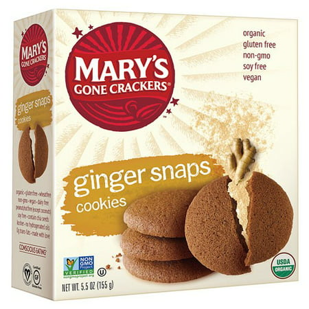 Mary's Gone Crackers Love Cookies Ginger Snap 5.5 oz - Vegan