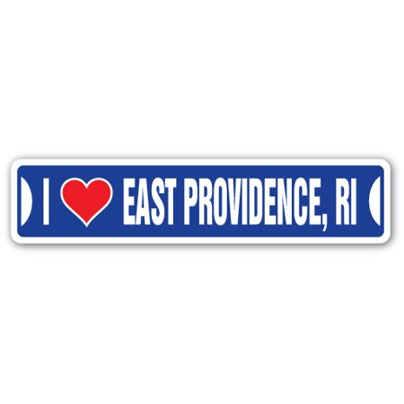 I LOVE EAST PROVIDENCE, RHODE ISLAND Street Sign ri city state us wall road décor gift](Party City Garden City Ri)