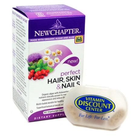 Bundle: 1 Perfect Hair peau et des ongles par New Chapter 60 capsules et 1 Pilulier