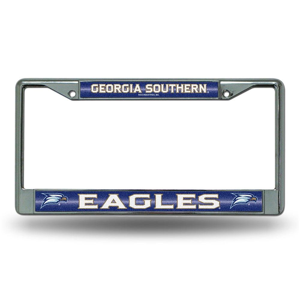 Georgia Southern Eagles NCAA Bling Glitter Chrome License Plate Frame