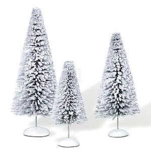 Snow Laden Sisals Set Of 3 Mini Trees