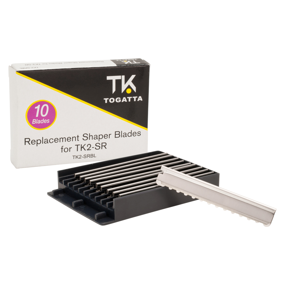 TK Togatta Box of 10 Stainless Steel Replacement Hair Shaper Blades for TK2-SR