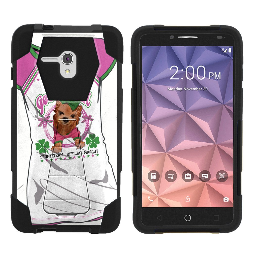 Alcatel One Touch Fierce XL 5054N Shock Fusion Heavy Duty Dual Layer Kickstand Case -  Shattering Winter