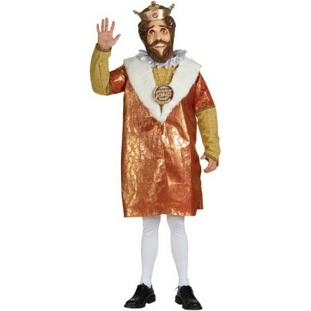 Burger King The King Deluxe Adult Costume - King Leonidas Costume Authentic