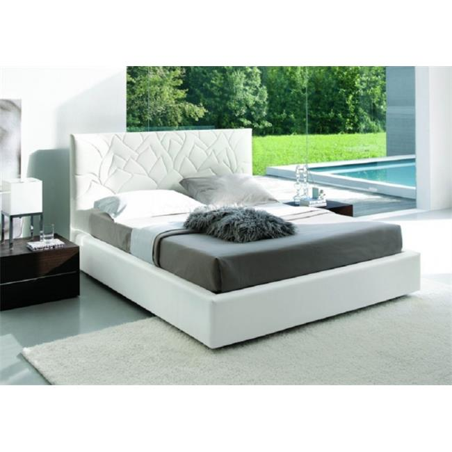 JandM Furniture 18020-Q-W Lily Queen Bed - White