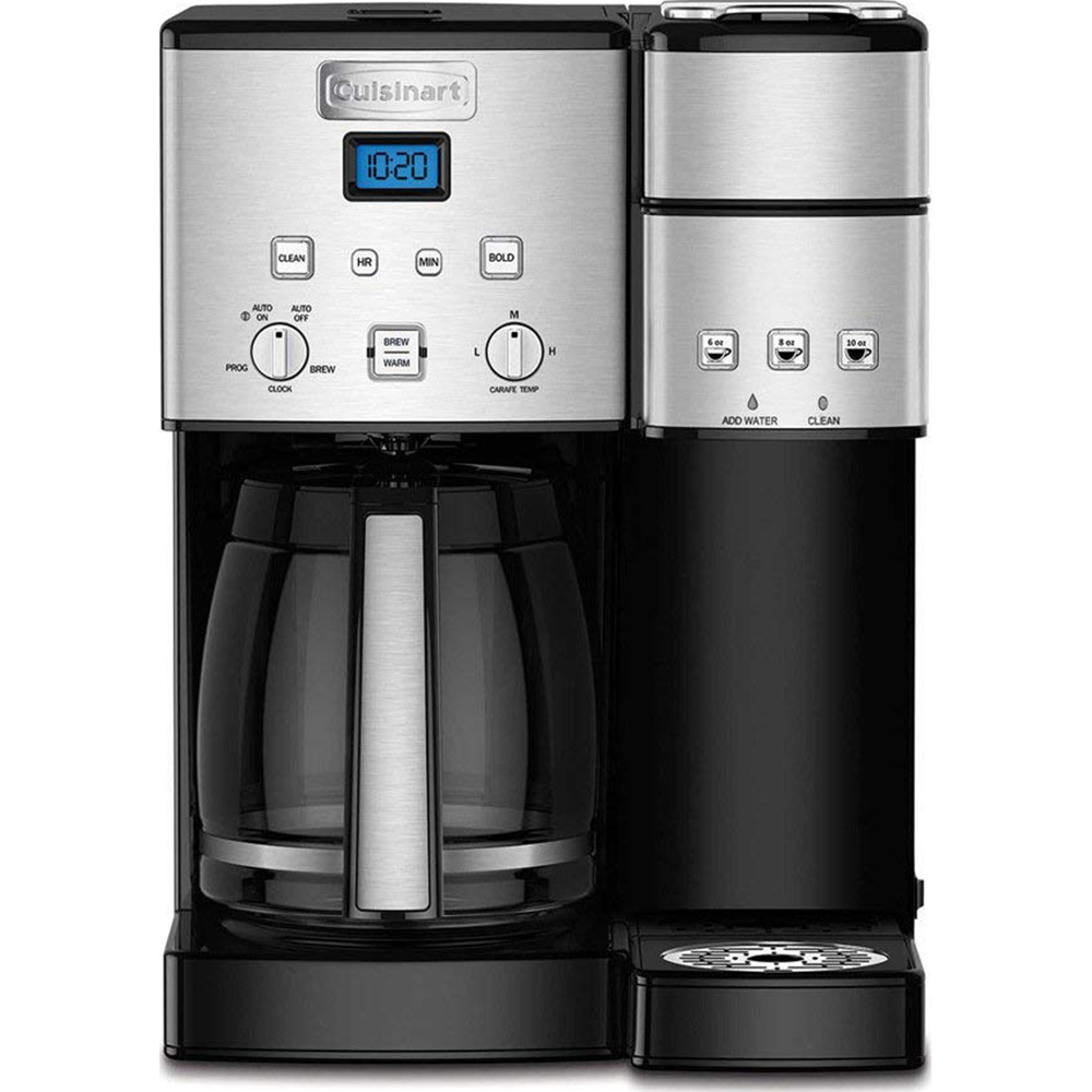 Cuisinart SS-15 12-Cup Coffee Maker & Single-Serve Brewer, Stainless Certified Refurbished