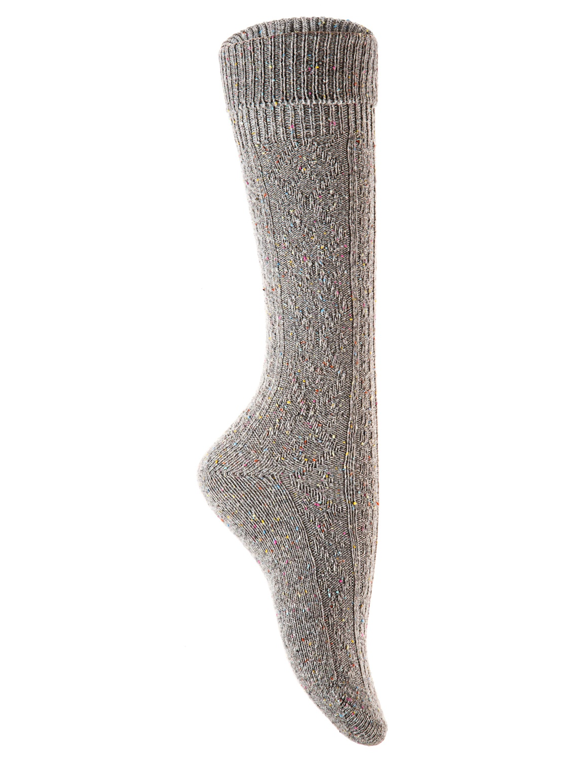 Lian Style Big Girl's 6 Pairs Wool Knee-high Crew Socks Size L (Assorted)