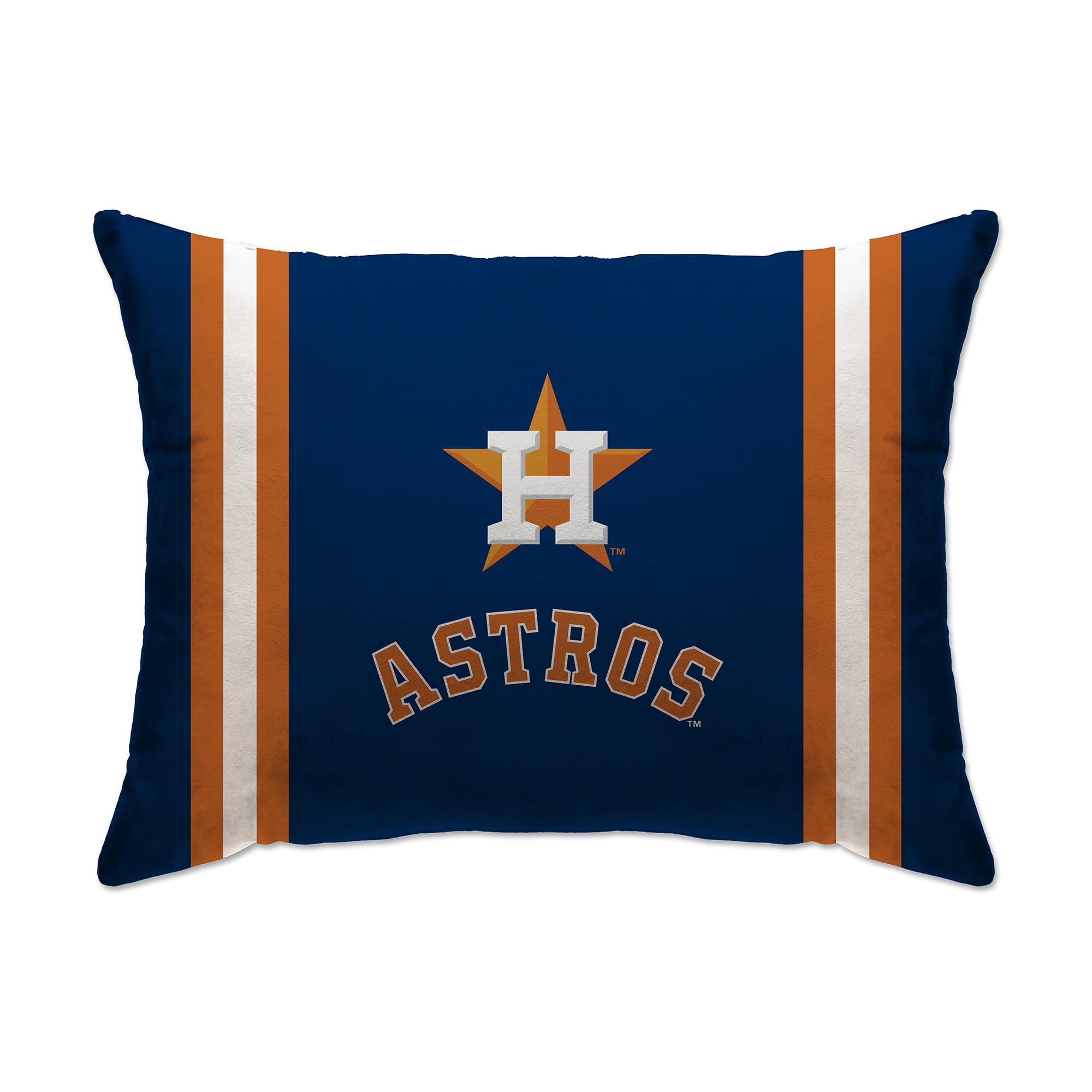 "Houston Astros 20"" x 26"" Plush Bed Pillow - Blue - No Size"