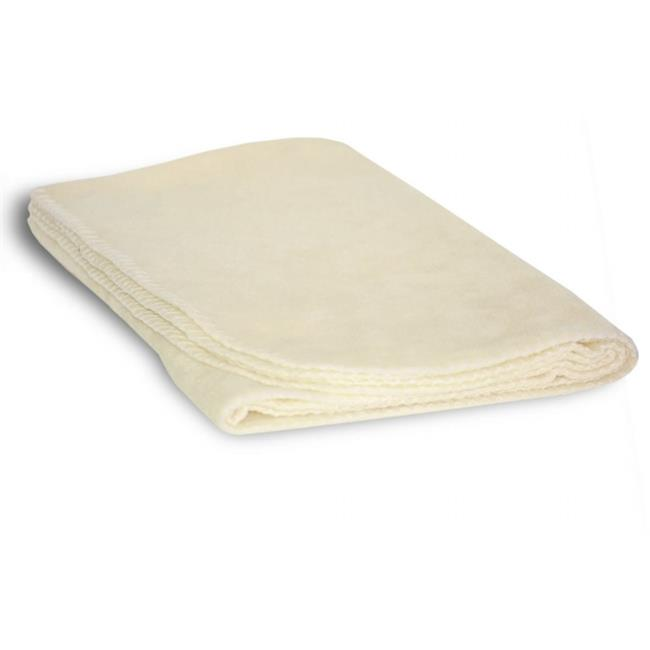 DDI 1853337 Fleece Baby Lap Blanket - Cream