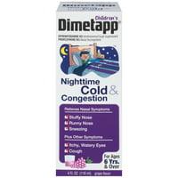 Children's Dimetapp Nighttime Cold & Congestion Antihistamine/Cough Suppressant & Decongestant Liquid 4 fl. Oz. Box