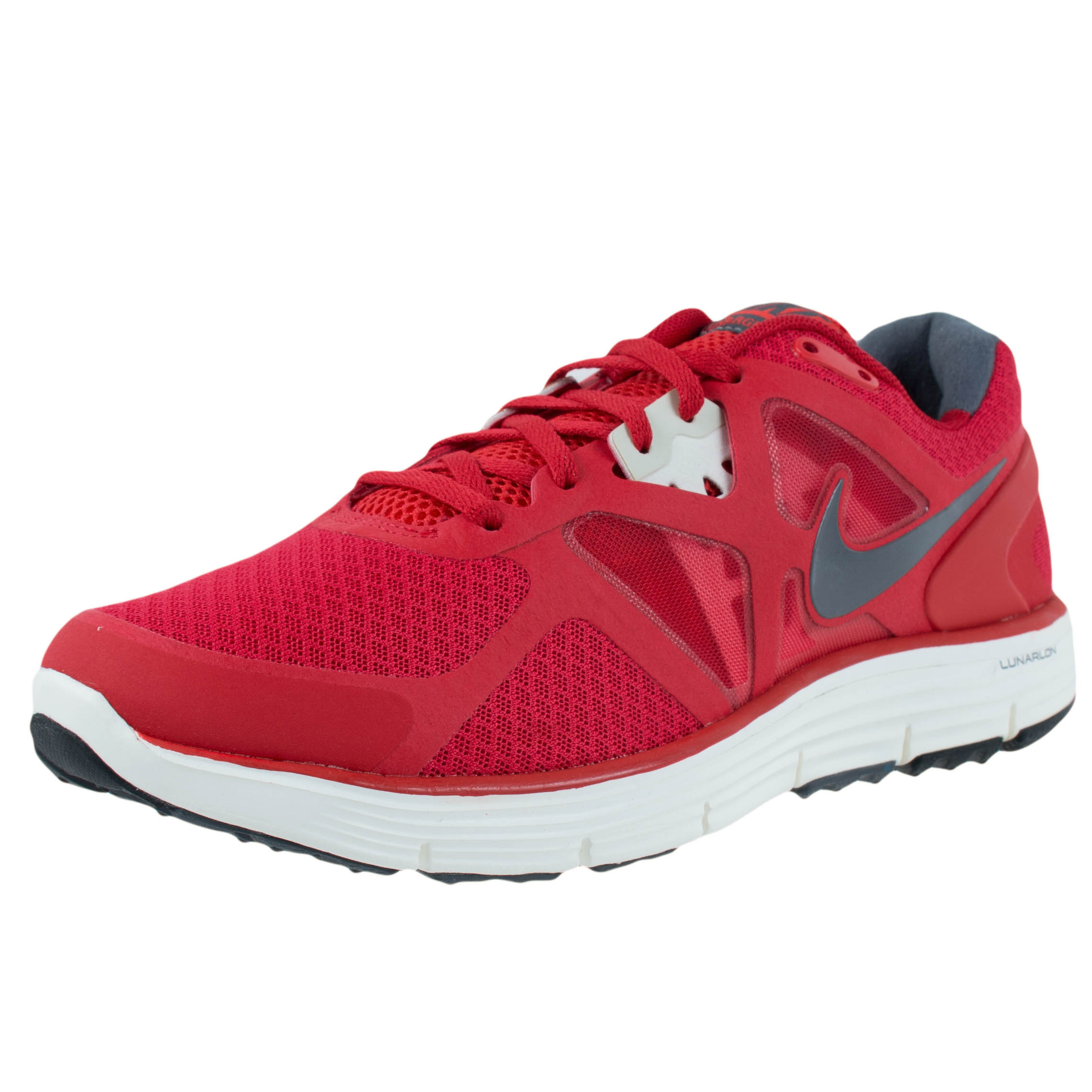 Nike LUNARGLIDE 3 RUNNING SHOES UNIVERSITY RED DARK GREY ...