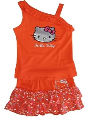 d959059e34d16 Hello Kitty Little Girls Outfit Sets - Walmart.com