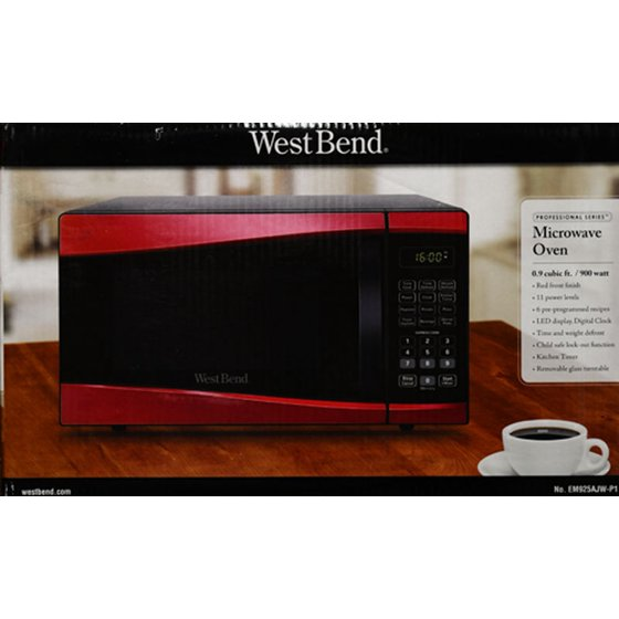 West Bend 0 9-cu  ft  900-Watt Microwave - Walmart com