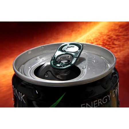 Drink Tin (Canvas Print Drink Tin Energetic Energy Drink Stretched Canvas 32 x 24)