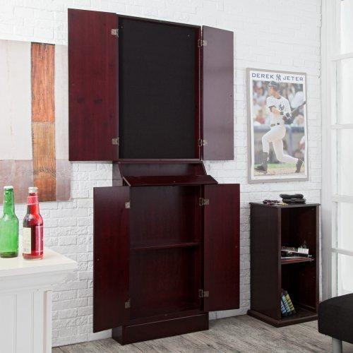Worcester Arcade Style Solid Wood Dart Board Cabinet - Walmart.com