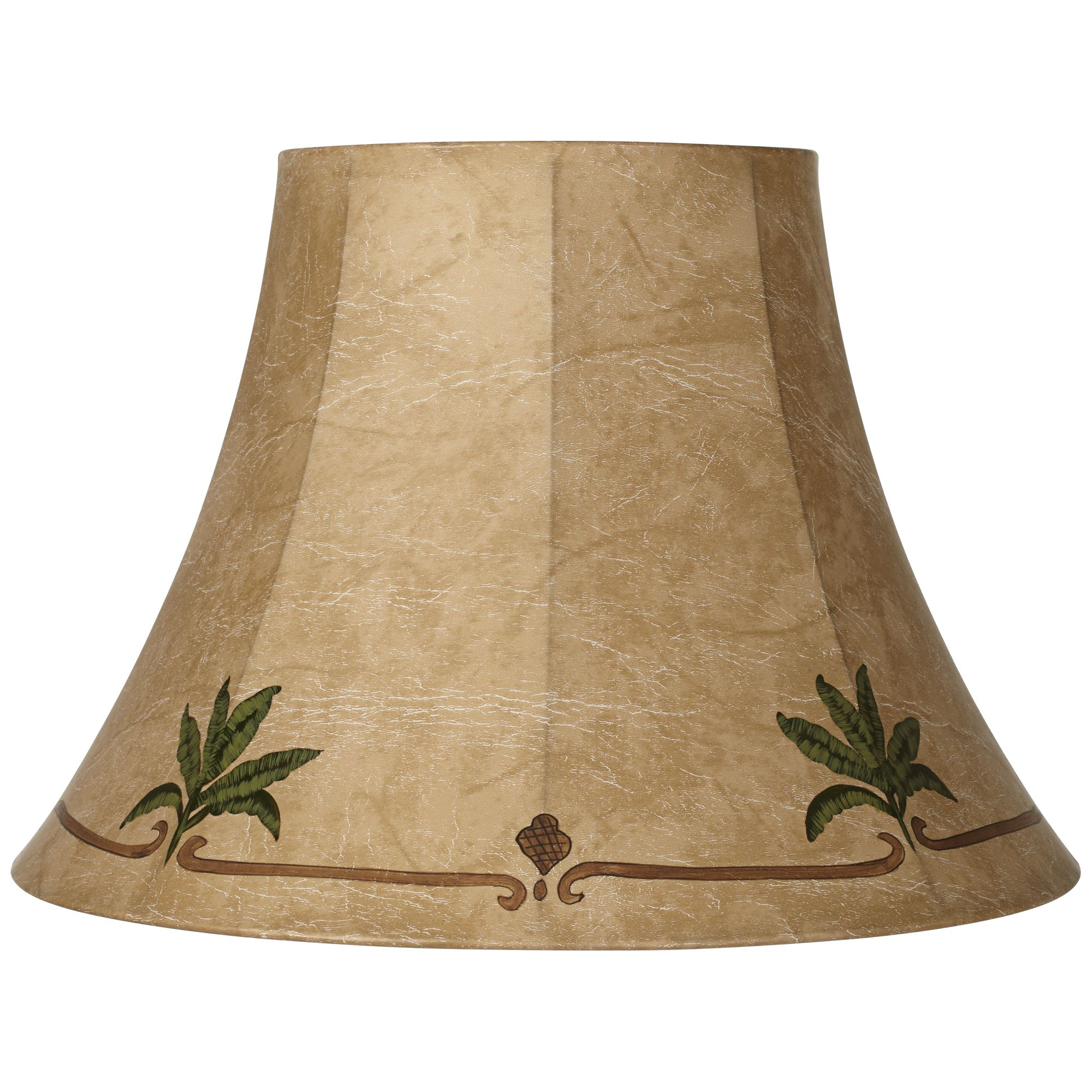 Springcrest Palm Leaf Faux Leather Lamp Shade 9X18x13 (Spider)