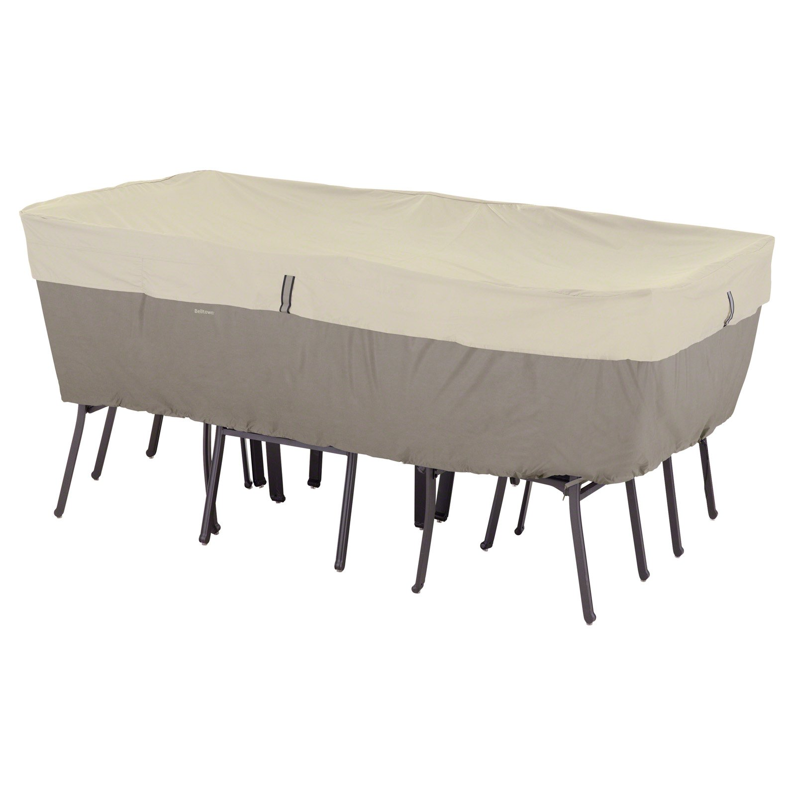 Clic Accessories Belltown Rectangular Oval Table And Chair Patio Furniture Storage Cover Large Sidewalk Grey