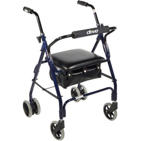 Drive Medical Mimi Lite Push Brake Walker Rollator