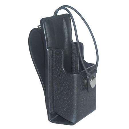 Replacement for Motorola NTN7145 Two Way Radio Leather Carry Case Holster with Fixed Belt Loop