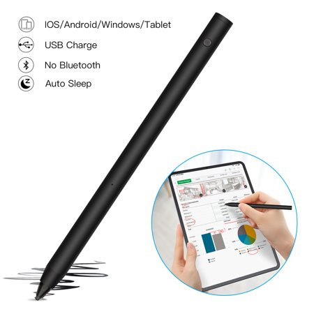 AGPtek Active Stylus Pen, Android iPad IOS Microsoft Tablet Compatible Accurate Writing Drawing Touch Screen