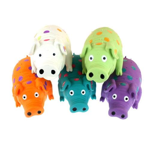 large latex pig dog toy