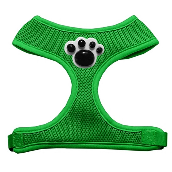 Mirage 73-33 MDGR Black Paws Chipper Emerald Dog Harness Medium