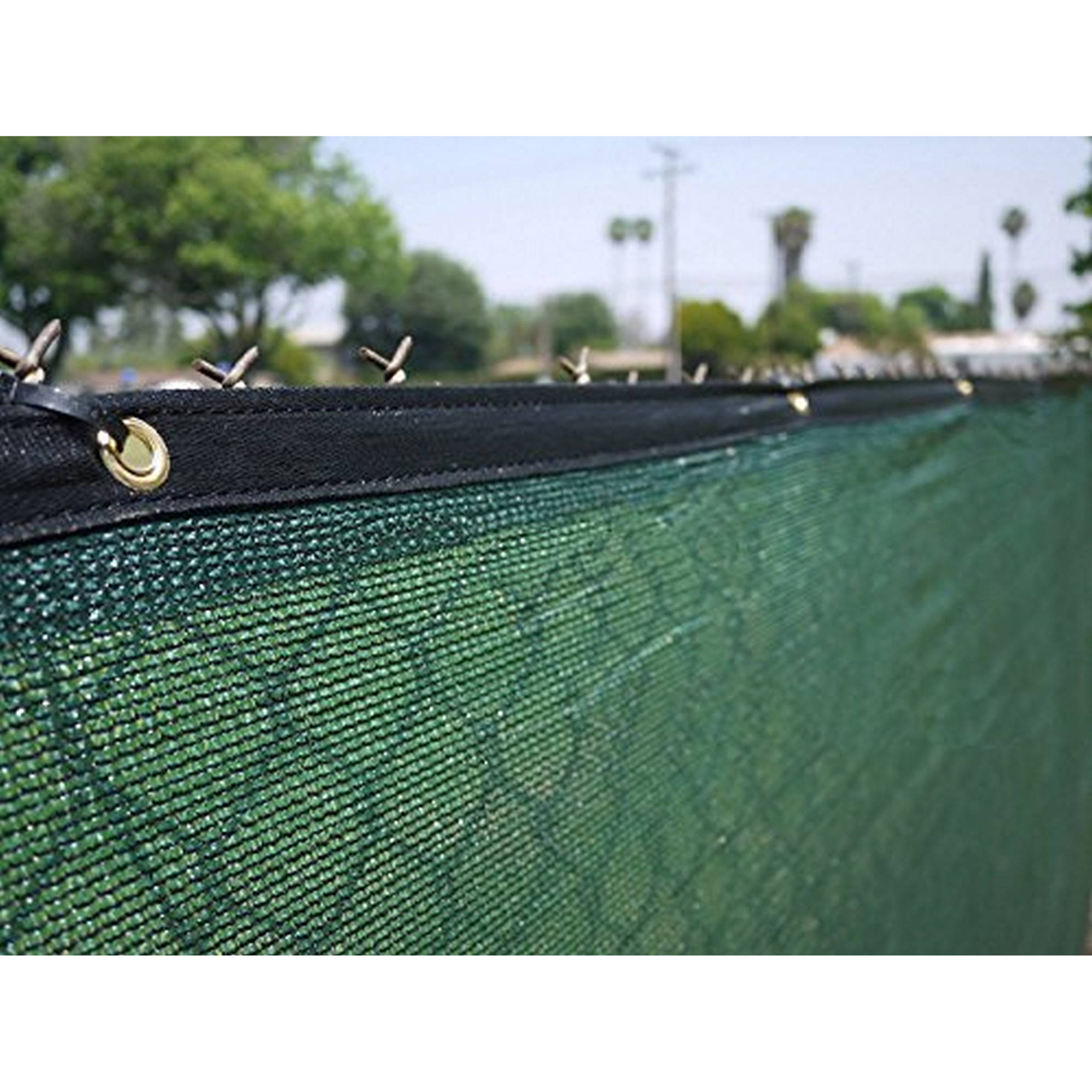 Aleko 6' x 150' (Aluminum Eye) Dark Green Fence Privacy Screen Windscreen Shade Cover by Decorative Fences