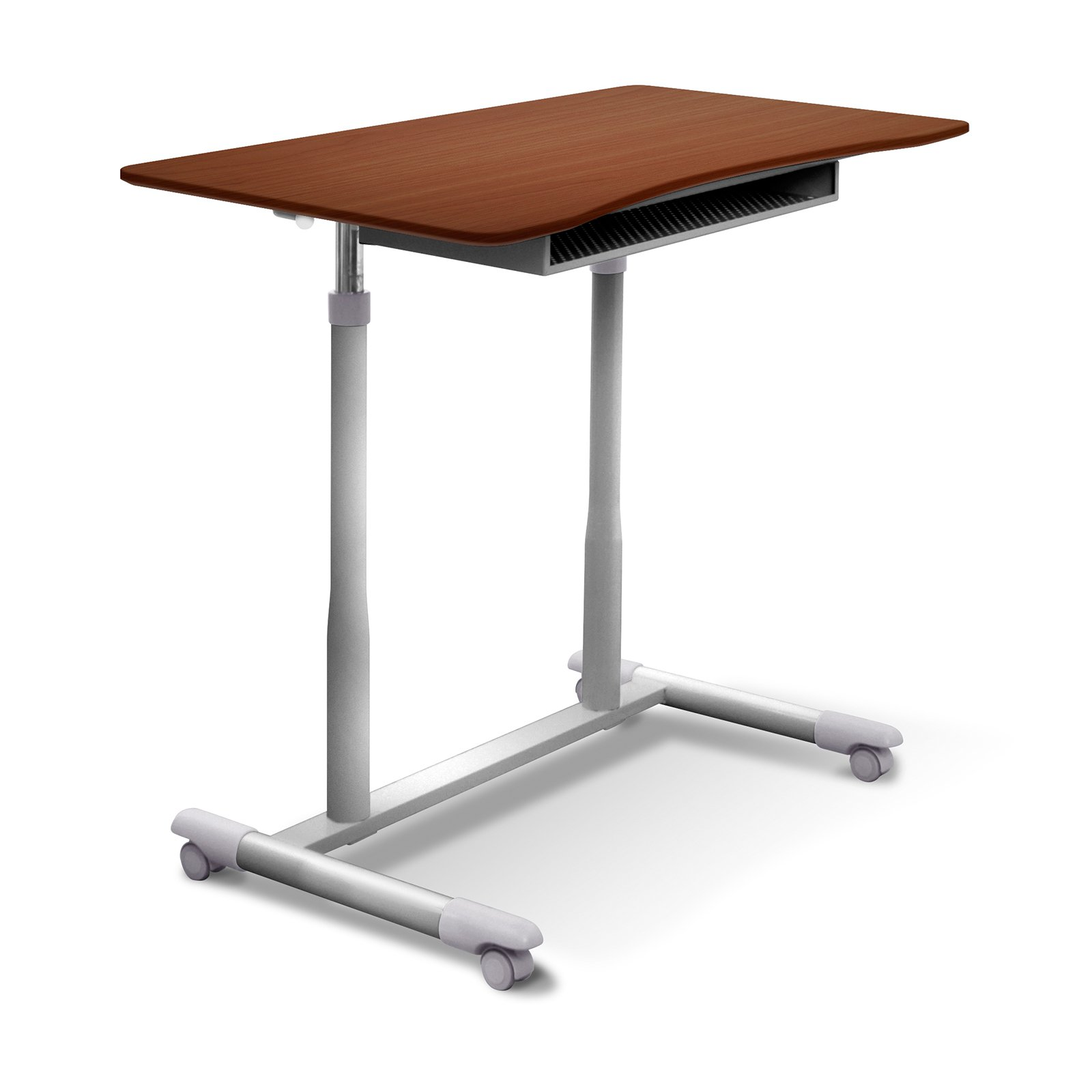 jesper office 205 series height adjustable standing desk - cherry
